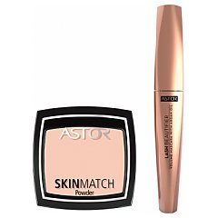 Astor Skin Match Powder + Lash Beautifier Volume Mascara 1/1